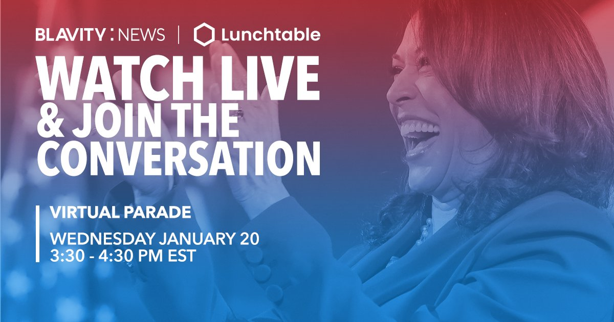 """Join us in viewing the Presidential Inauguration Committee's """"Parade Across America,"""" a made-for-television special event featuring diverse performances in communities across the country 🙌🏾   Watch with us LIVE NOW on  and  🔴"""