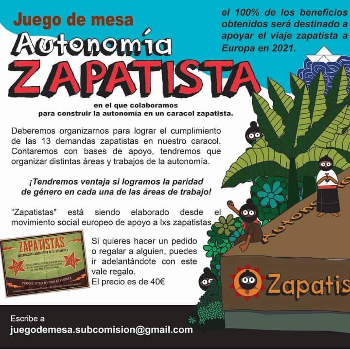 """CGT on Twitter: """"[Internacional] Desde #CGT @CGTrelinternac os animamos a  colaborar en la financiación de la `Gira Europea por la Vida' de nuestrxs  compañerxs del #EZLN, -que llegarán a #Europa en pocos"""
