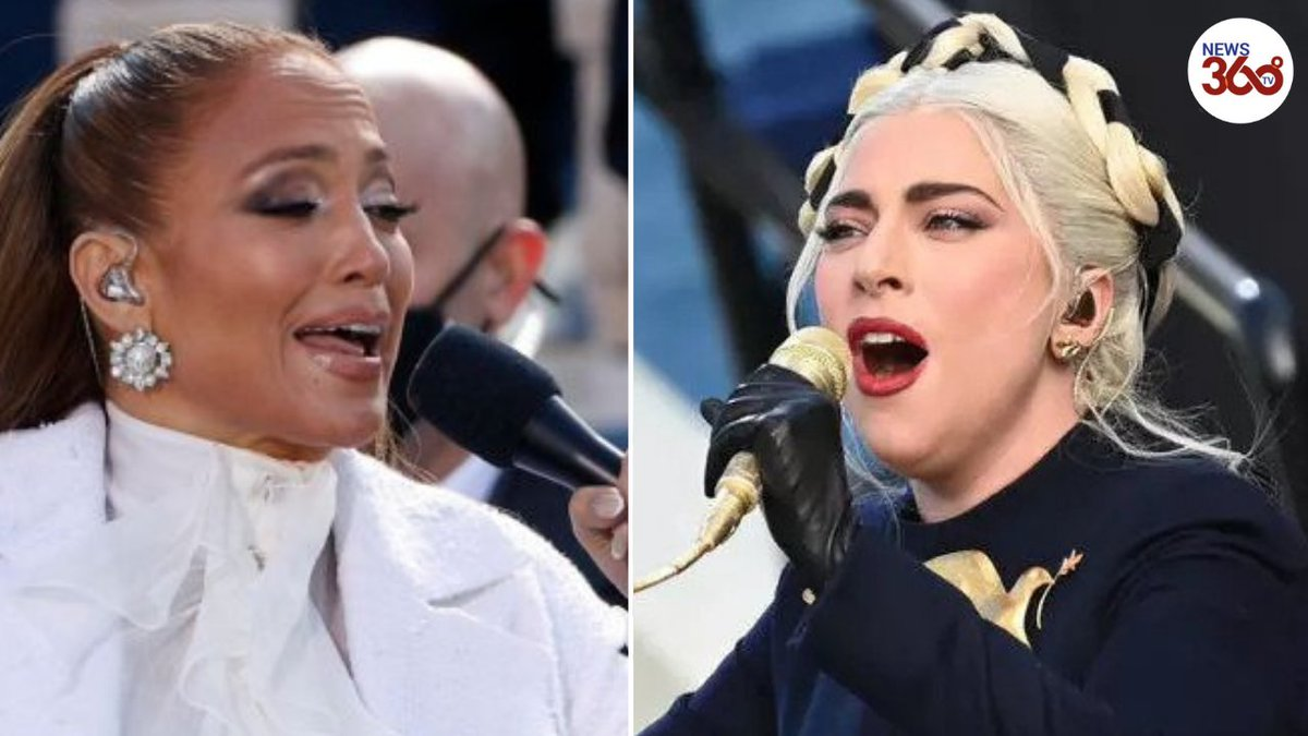 Lady Gaga & Jennifer Lopez sing at President Biden's inauguration Watch:  @WhiteHouse #InaugurationDay #JoeBiden #KamalaHarris #POTUS46 @ladygaga   @JLo