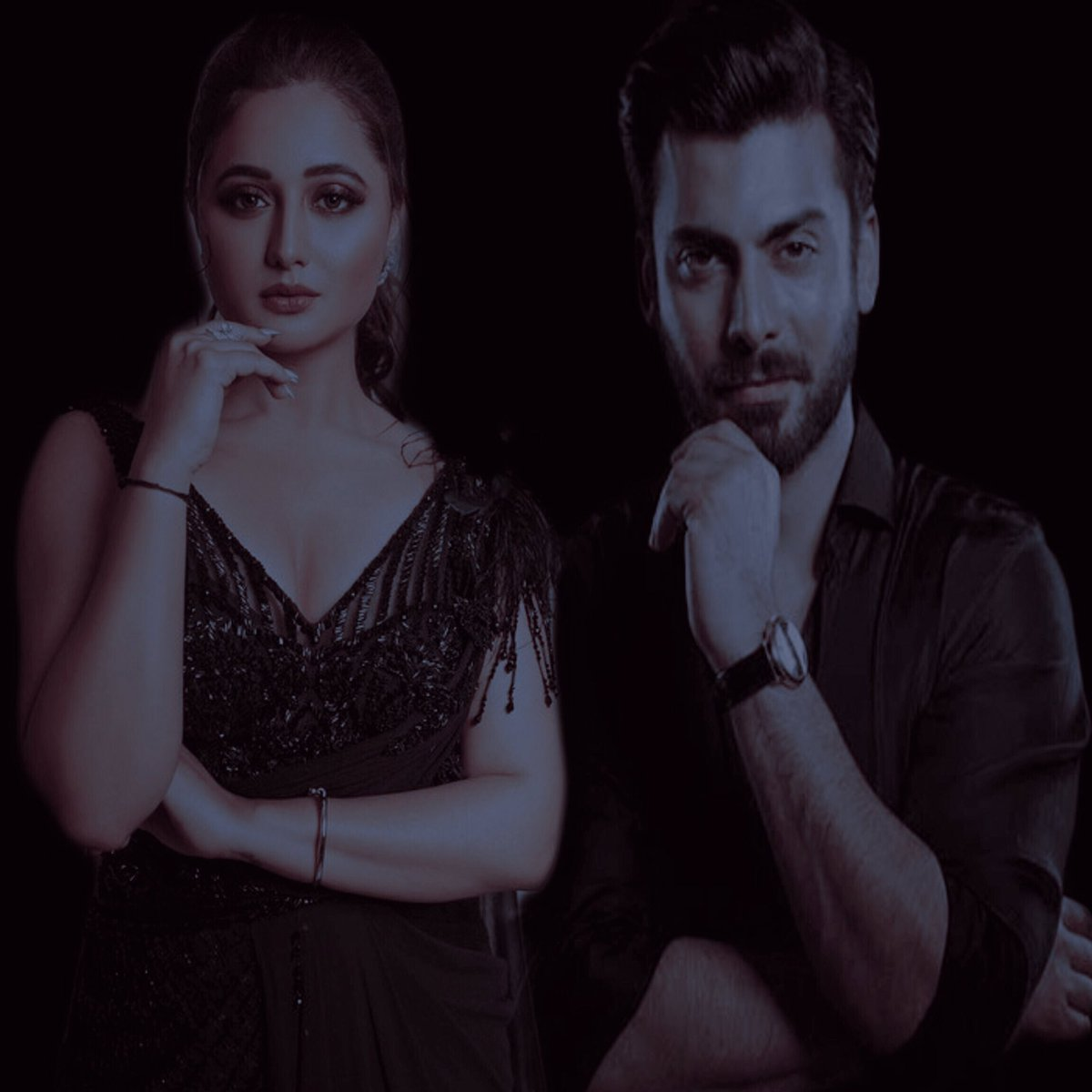 So until I don't come back with Fawad Khan X Rashami Desai another crossover...   This is for you shades of Darkness   #FawadKhan #RashamiDesai