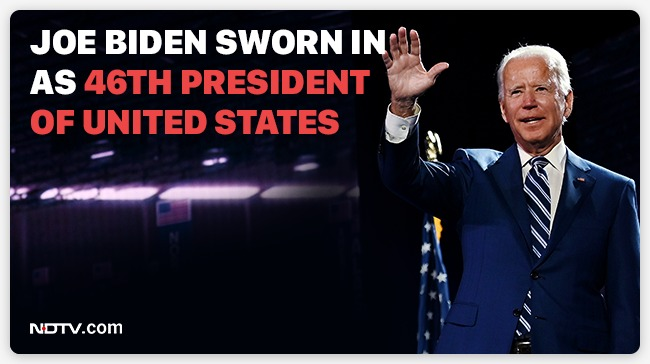 #JoeBiden takes oath as the 46th President of the United States of America.