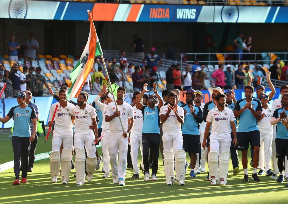 A Series Win to remember for a lifetime. We will always fight it out no matter the odds. A win we will cherish forever. 🇮🇳 #TeamIndia