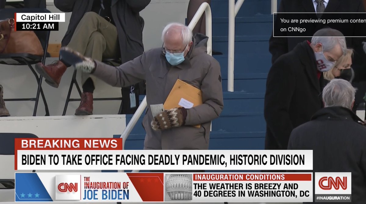 Bernie comes into the inauguration to reveal he has the secret alien documents as well as his utilities bill