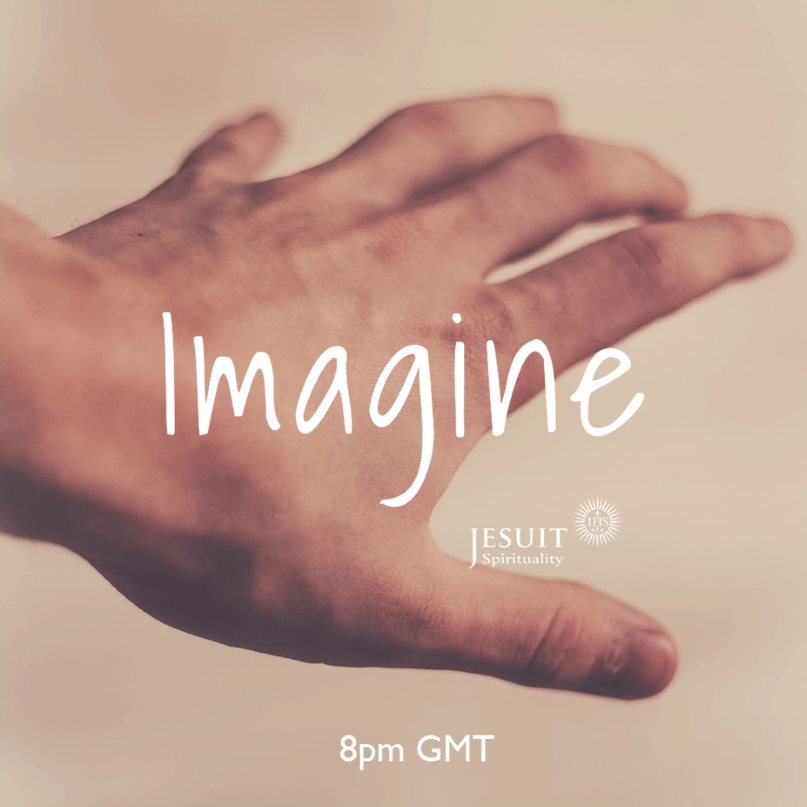 IMAGINE is back this evening. Join #prayasyougo listeners from around the world for a guided meditation on Zoom. Optional groups for sharing, 8pm GMT
