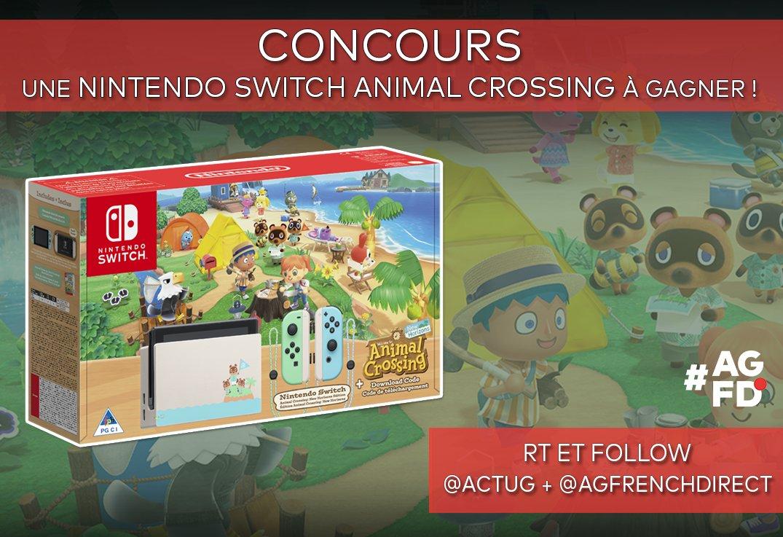 #CONCOURS : Une Nintendo Switch Animal Crossing à gagner pour fêter le prochain AG French Direct 😍  Pour jouer : 💥 #RT 💥 Follow @ActuG + @AGFrenchDirect 💥 Dis-nous quel nom tu donneras à ton île ! ⤵️  Pour nous soutenir : 💥 S'abonner :   Infos ⤵️ #AGFD