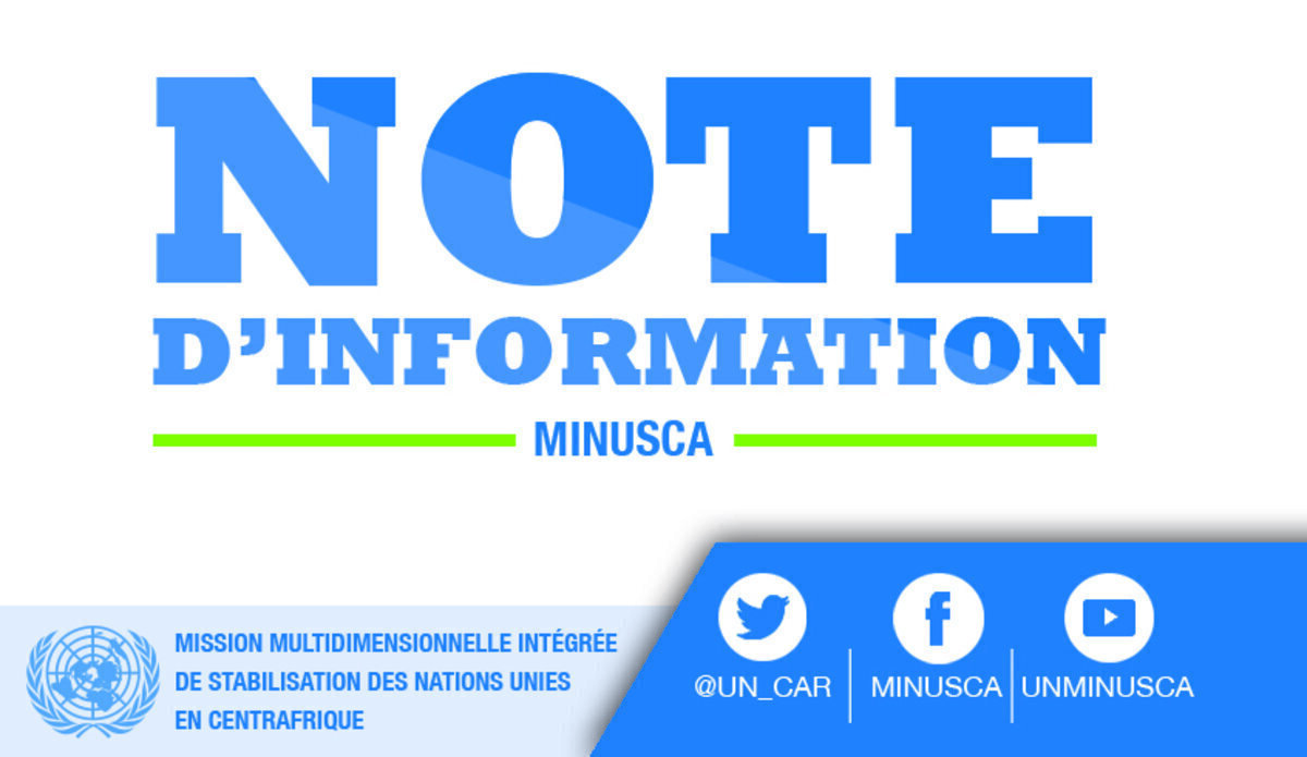 #RCA🇨🇫| La #MINUSCA condamne la tentative d'asphyxie de #Bangui par les groupes armés et leurs alliés politiques