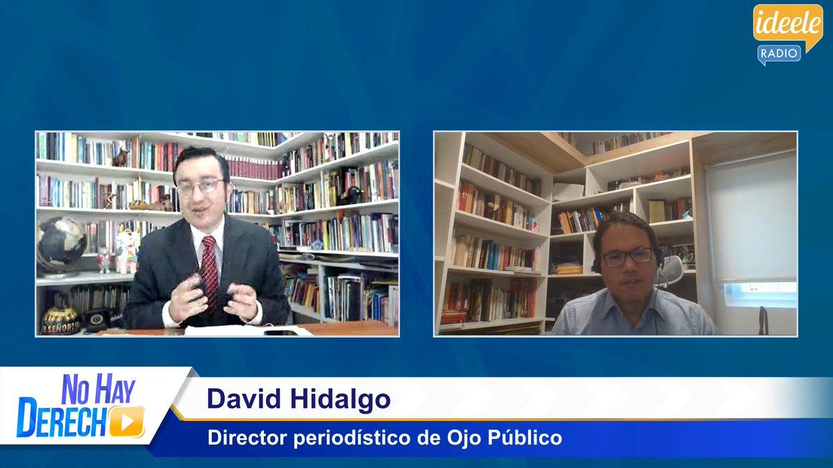 🔴 [VIDEO] #NoHayDerecho con #GlatzerTuesta [20-01-2021]  📹 Entrevista a #DavidHidalgo (@Club_Insolito), Director periodístico de @Ojo_Publico.   #YouTube ➡ https://t.co/J4hnZQ935D     #Facebook ➡ https://t.co/VaG8brT1ZR https://t.co/bmVy0RTpub