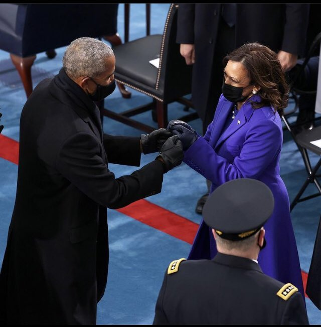 First black President and the first black Wilson Vice President do their thing. 'Go gettem sis' #BlackLivesMatter #InaugurationDay