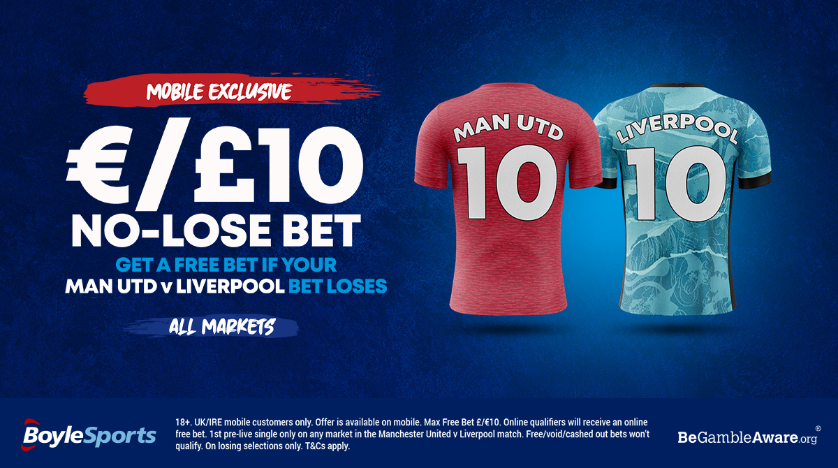 📱 MOBILE EXCLUSIVE 📱  Bet 10 on ALL MARKETS for Man Utd v Liverpool in the #FACup this Sunday...  Free 10 Bet back if you lose! 🤑  Get it 👉   #MUFC #LFC #YNWA #MUNLIV