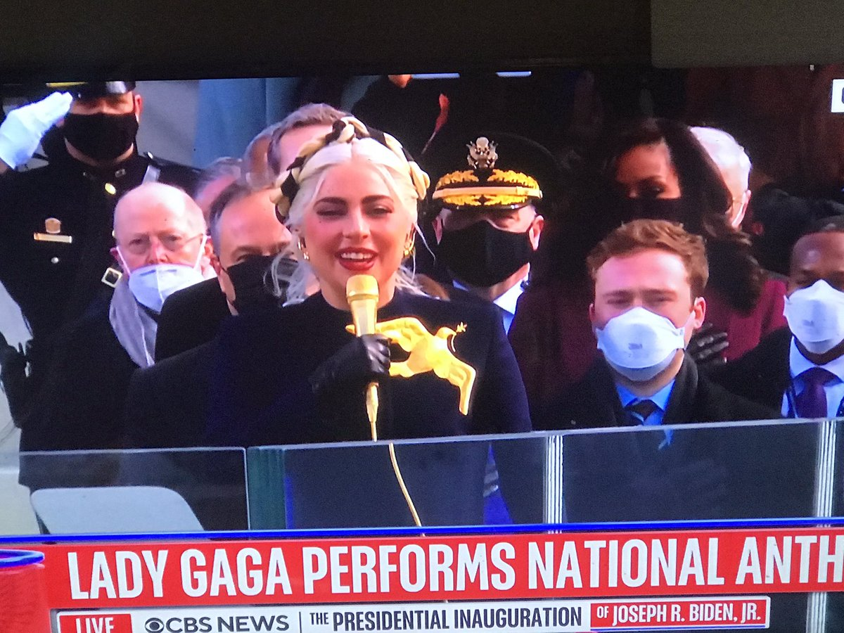 Wow. Check out @ladygaga outfit. So Beautiful 😍😍😍😍😍 #Inauguration2021 #InaugurationDay