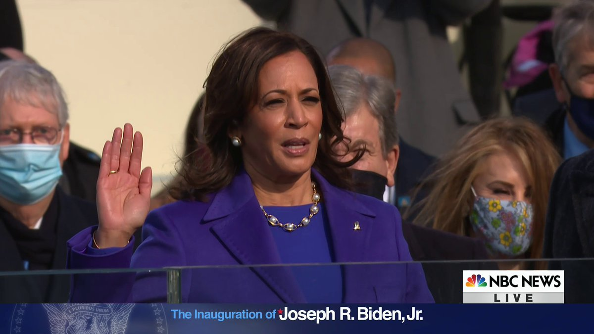 .@KamalaHarris is sworn in by Justice Sonia Sotomayor as the vice president of the United States. #Inauguration2021