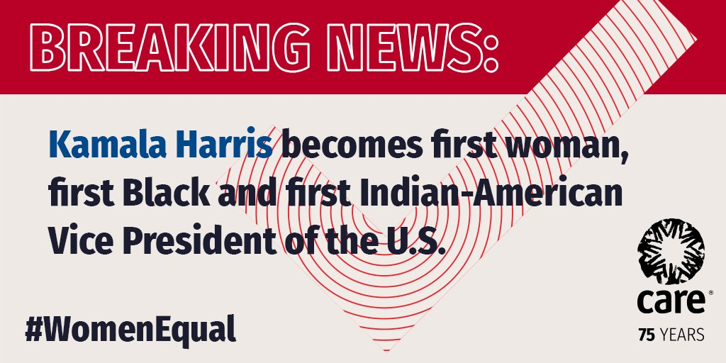 Women belong at the leadership table. Congratulations to Kamala Harris for becoming the 1st woman, 1st Black  and 1st  Indian-American Vice President of the U.S. #WomenEqual #InaugurationDay