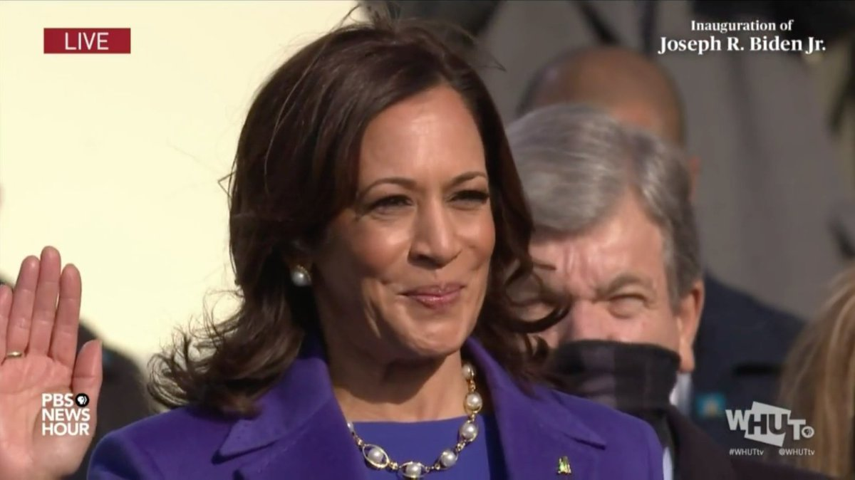 It is official! Howard alumna, @KamalaHarris is now the Vice President of the United States of America! #HU2WH
