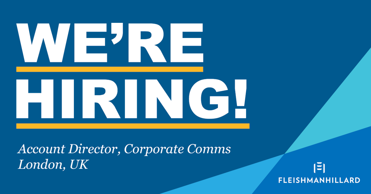 We're looking for an Account Director to join our Corporate team:  #prjobs #werehiring #openroles
