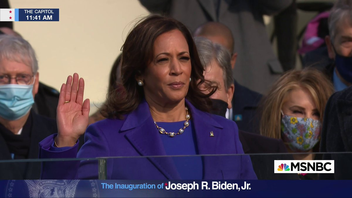 BREAKING: Kamala Harris sworn in as first female, Black and South Asian vice president of the United States. #InaugurationDay