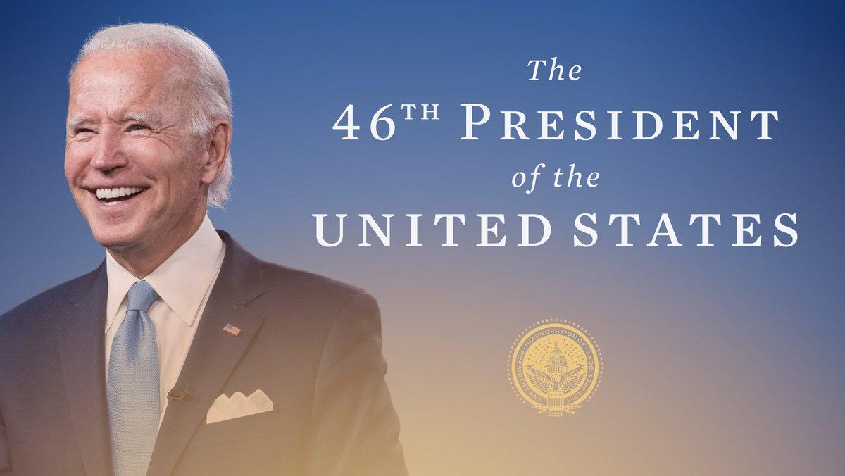 Replying to @BidenInaugural: @JoeBiden is the President of the United States.  #InaugurationDay