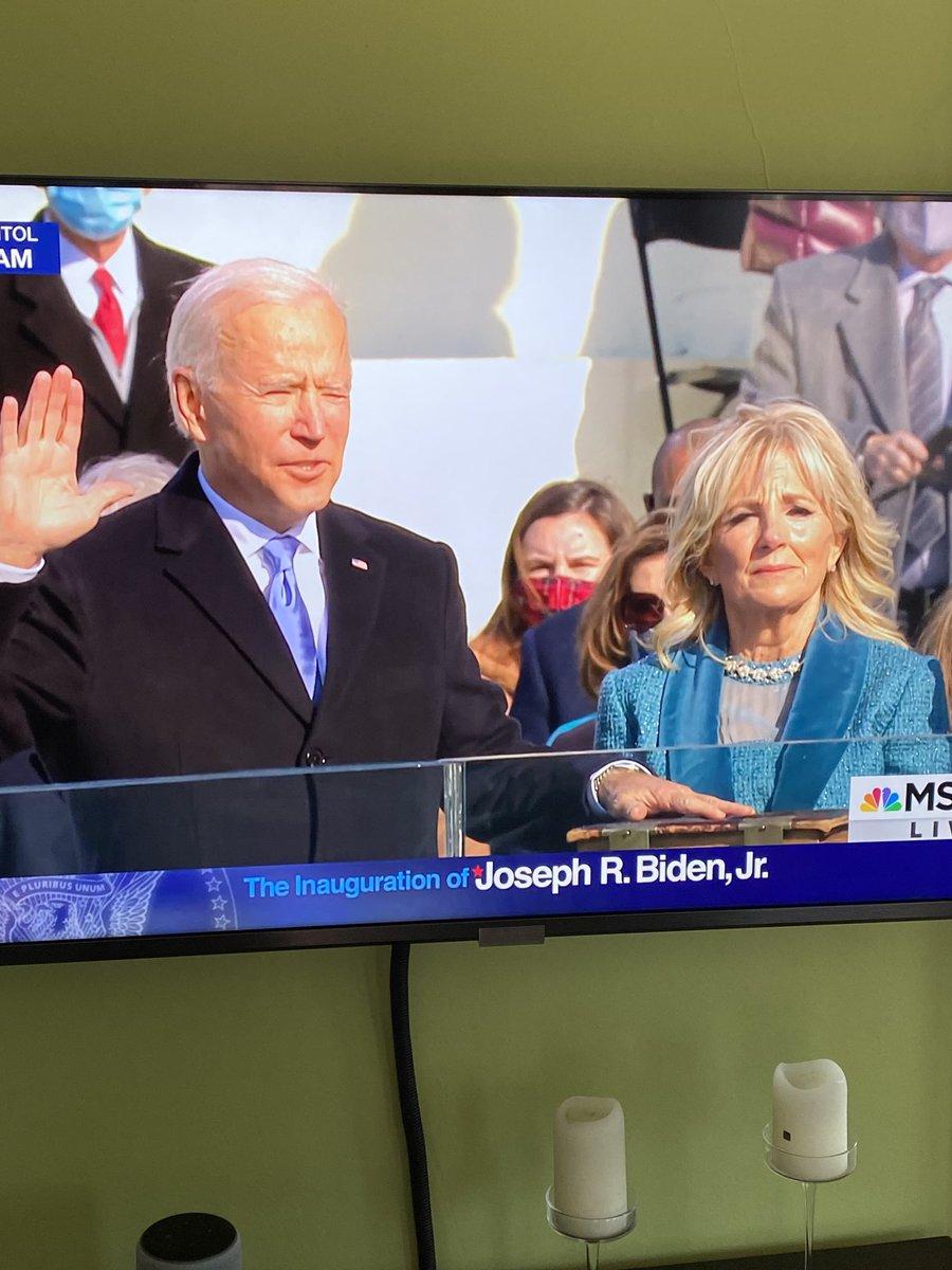 We have a new president  #POTUS46 #PresidentJoe