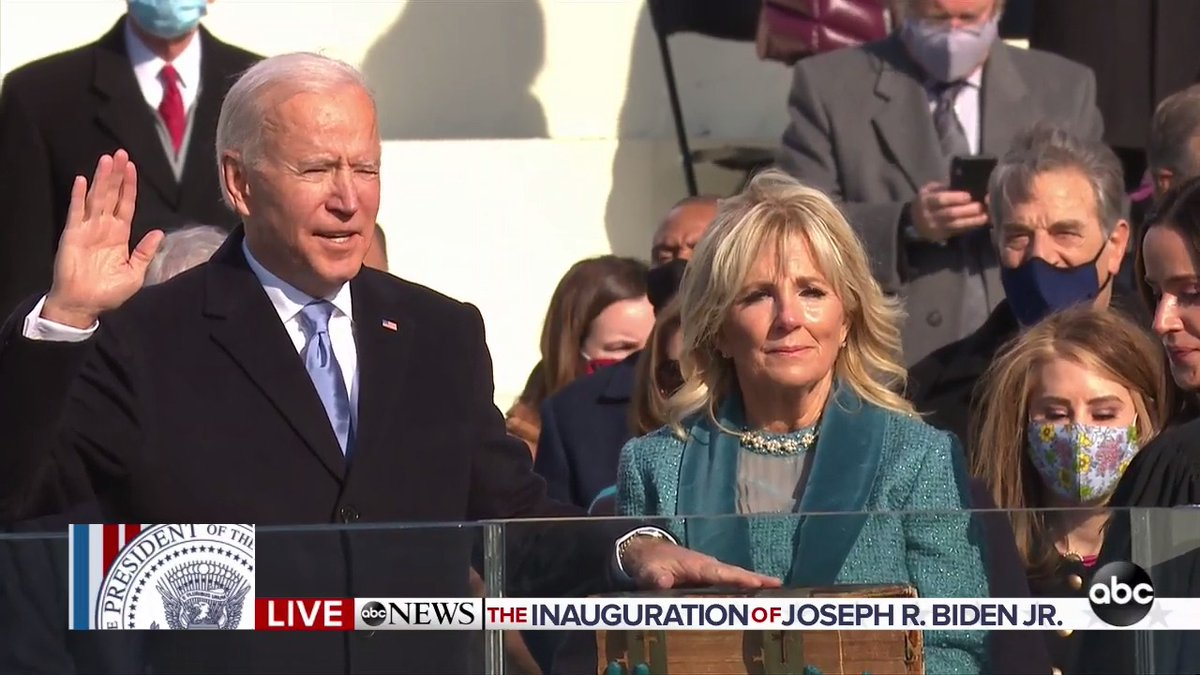 BREAKING: Joseph R. Biden, Jr. has been sworn in as the 46th President of the United States.   #InaugurationDay https://t.co/UAlbBuSLTS https://t.co/U88syjBqBu