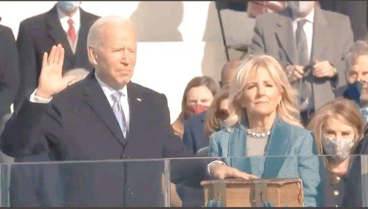#InaugurationDay Joe Biden presta juramento y se transforma en el 46° Presidente de Estados Unidos.