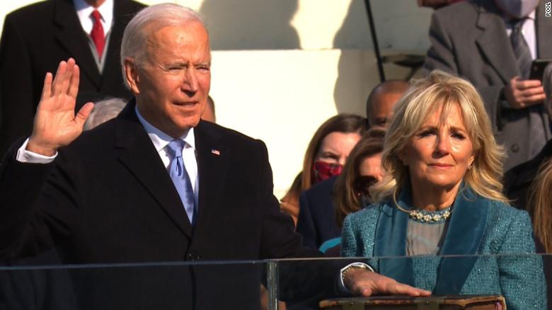 Joseph R. Biden Jr. has been sworn in as America's 46th president. He is addressing the nation now. Follow live updates: