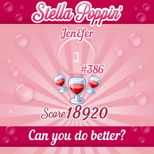 Try to beat my score! Join me on the Stella Rosa® app to play Stella Poppin' for your chance to win discounts and merchandise. #StellaPoppin Download here -> ().