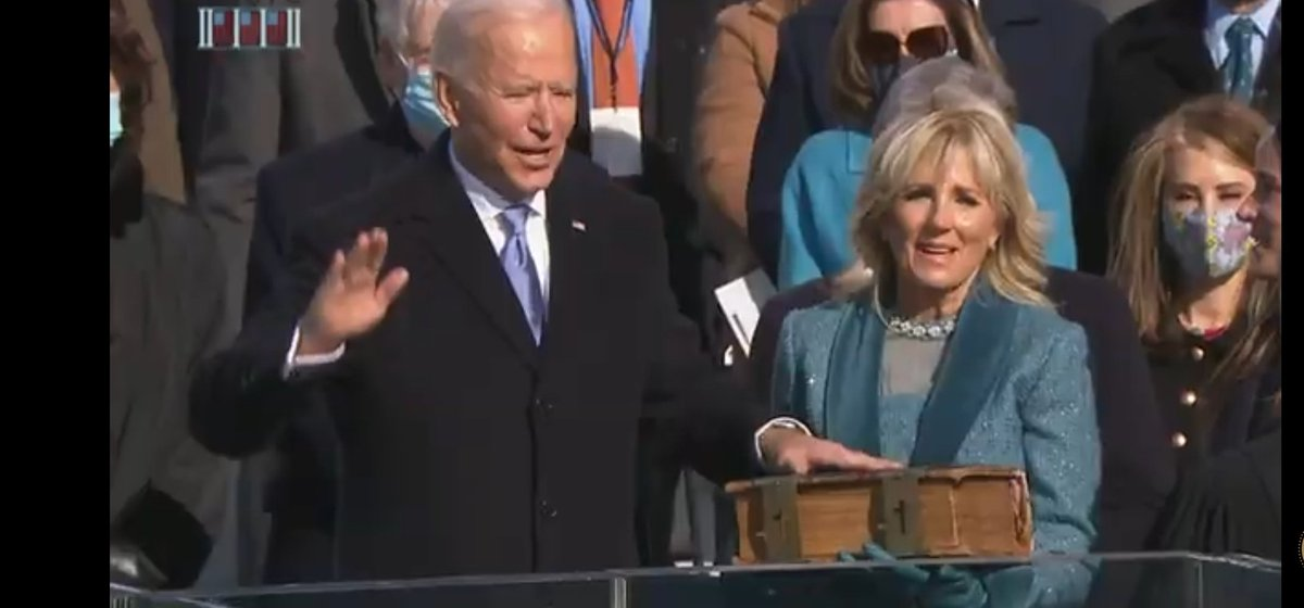 #wediditJoe  #ByeByeTrump At this very moment at 10:50 a.m Joe Biden became President of America & ending a period of temporary dictatorship! Be proud for what you have done resisters..you fought for what was right & got rid of the Narcissus Trump! #ONEV1  #DemVoice1  #Fresh2