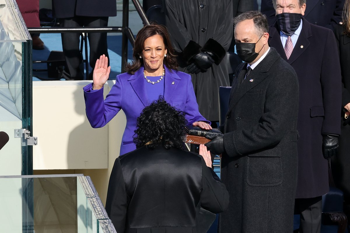Madam. Vice. President. 💜💜💜  Congratulations @KamalaHarris! #InaugurationDay   (📸:Getty)