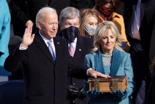 Joe Biden is sworn in as the 46th President of the United States.