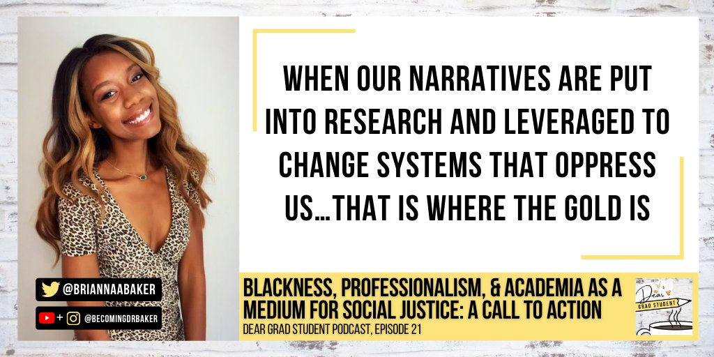 Its Inauguration Day! What better way to recognize this day than celebrating Black researchers like @BriannaABaker and/or challenging your innate white supremacy? This was all covered on Mondays episode! Oh! You missed it? No worries! Catch up here: bit.ly/39CdGei