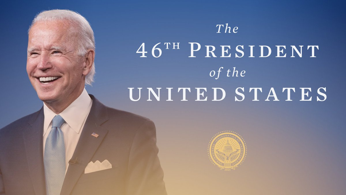 Joe Biden is the President of the United States.  #InaugurationDay