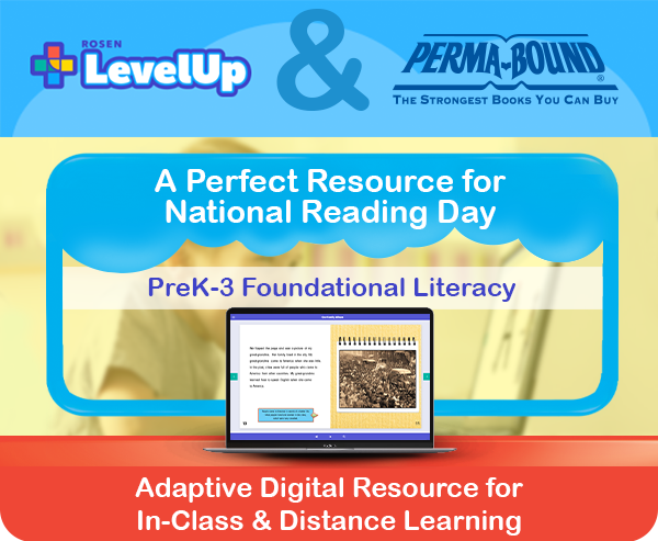 A foundational literacy resource! Let Perma-Bound and Rosen be your partners in literacy & learning with the LevelUp adaptive reading program, . #preK3 #lementary #learning #reading #literacy #Curriculum