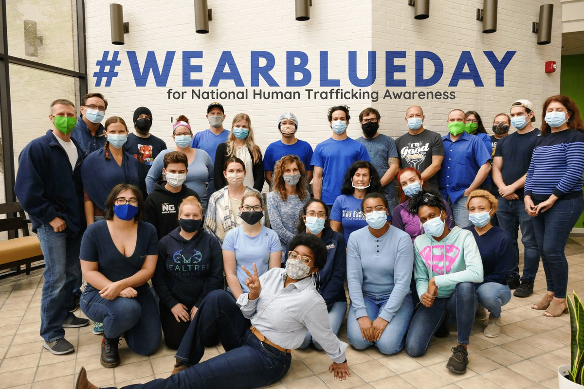 National Human Trafficking Awareness is recognized every year in January 11th, so the FreshJax team took part in #WearBlueDay last week! 💙Learn more in our latest blog post here:
