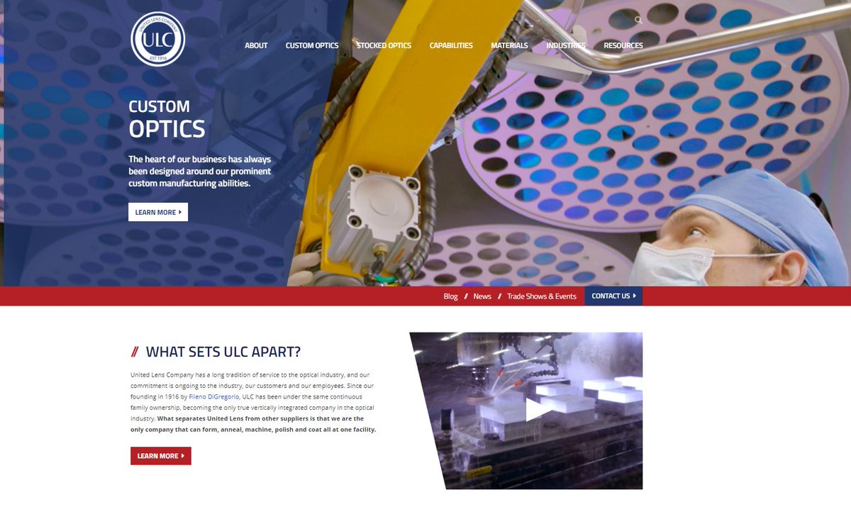 If you haven't seen it yet, be sure to check out our New Website! With new content on every page, improved search functions & an overall better user experience. See it today!   #ULCOptics #Optics #Photonics #Manufacturing #MadeinUSA #eCommerce #NewWebsite