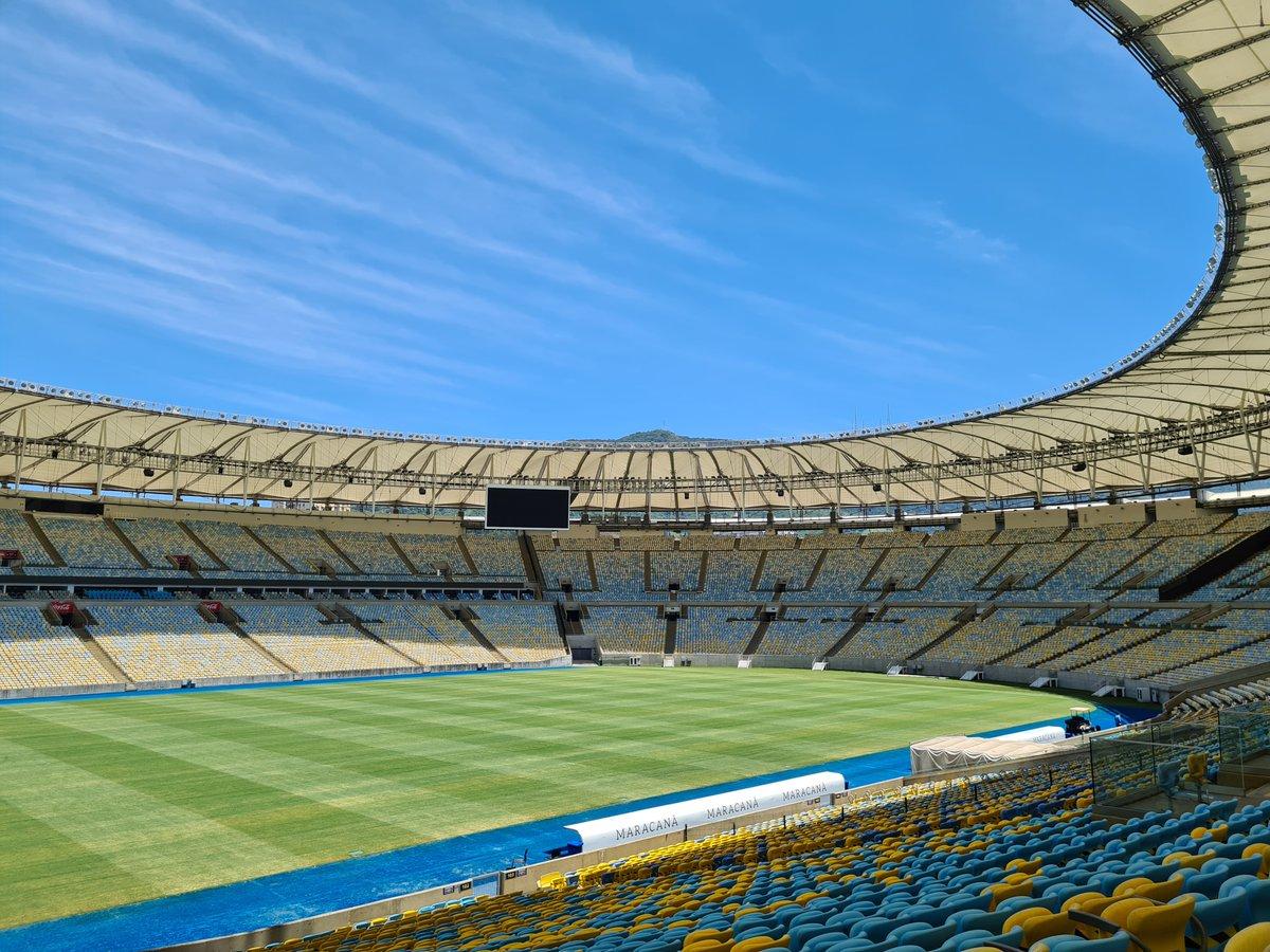 😱 ¡Faltan 🔟 días para la Final de la CONMEBOL #Libertadores!   🇧🇷🏟 Así está, hoy, el @maracana para recibir a @Palmeiras y @SantosFC.   #GloriaEterna