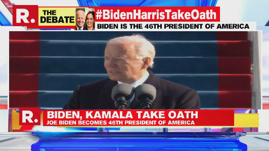 #BidenHarrisTakeOath | Today, on this January day, my whole soul is in this: bringing America together, uniting our people, uniting our nation: US President Joe Biden  https://t.co/RZHKU3wOei https://t.co/NRIMdhkUa0