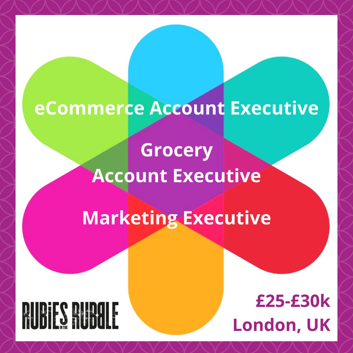 **NEW ROLES, JUST IN!** Head over to our new #jobs board  to view details of all these exciting opportunities to join the wonderful team at @rubiesinrubble. #MarketingJobs #marketing #eCommerce #grocery #AccountManagement #ExecutiveRoles #LondonJobs
