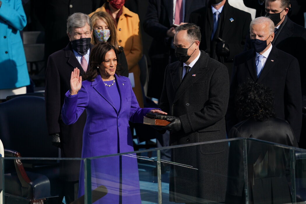 Our new Vice President was sworn in today, administered by the first Latina Supreme Court Justice, Sonia Sotomayor.