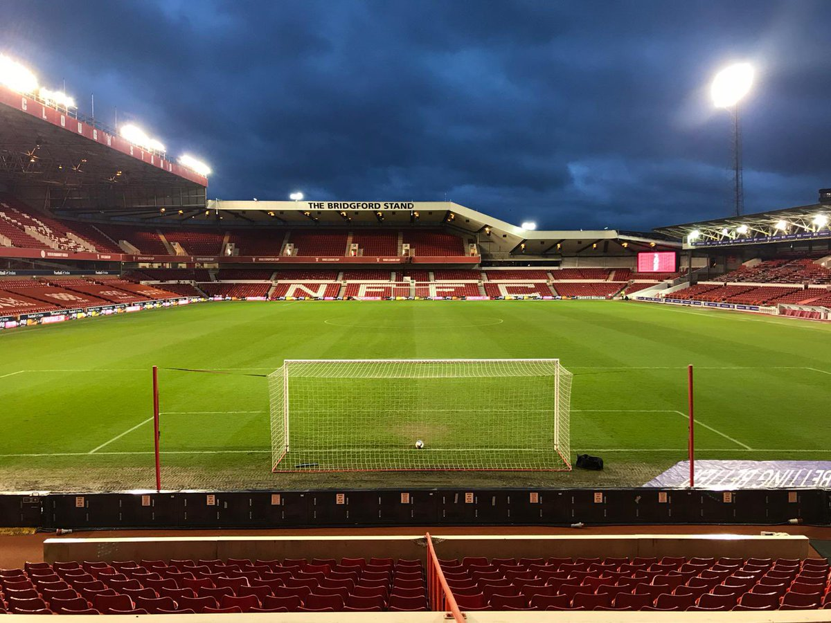 The green, green grass of home 🏠   What a fantastic job the ground staff and maintenance team have done in protecting the pitch from over 150,000 litres of water over the past few days 👏  𝗚𝗔𝗠𝗘 𝗢𝗡. #NFFC https://t.co/wlkn76ZZb3