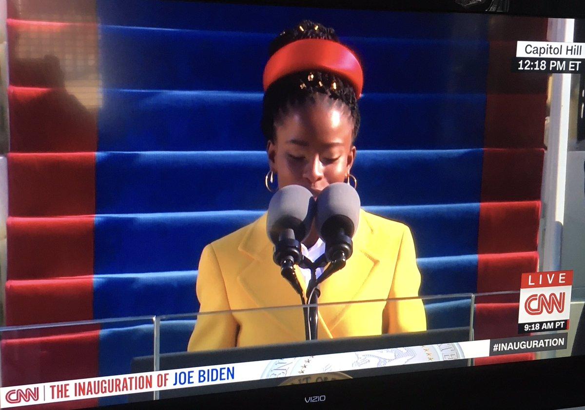 Holy Moly! #AmandaGorman  As inspiring as anything else during this inauguration.  #BidenHarrisInauguration