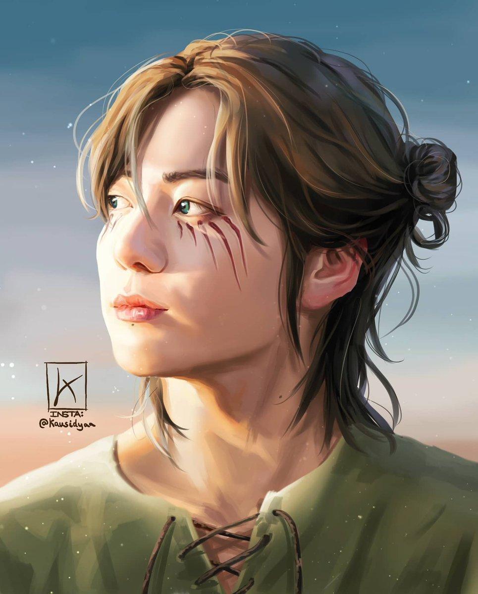 My Art of Jungkook as Eren Jaeger from Attack on Titan #attackontitanfanart #JUNGKOOK #Jungkookfanart #BTS #AttackonTitanFinalSeason #ErenJaeger