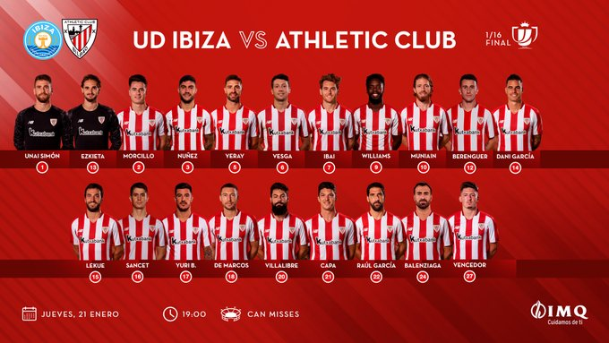Los citados para medirse a la UD Ibiza.