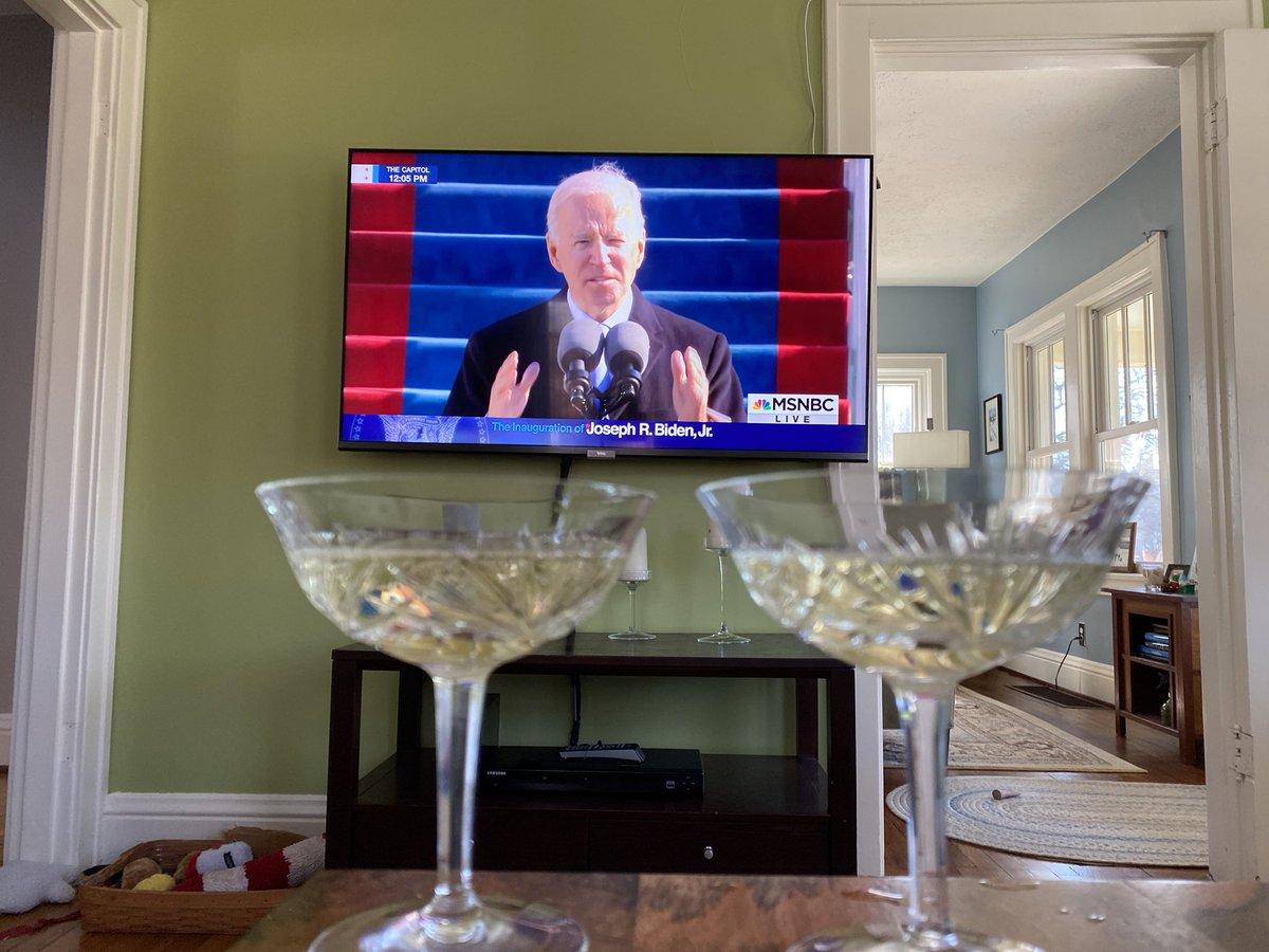 Time for celebration.  We finally have a president who cares.  #POTUS46  #PresidentJoe #PresidentBiden
