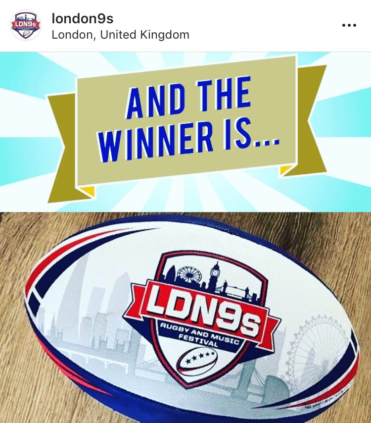 Congratulations to our 1st winner of a @London9s iconic #rugbyball - one is now on it's way to Wales 🏴- join us on Instagram for the next chance to WIN a 🆓🏉💥#Competition #LDN9s #lockdown2021 #ContestAlert #rugbyfest #HistoricWin #Rugby #RugbyLeague #the9sguy ▶️🌏🏉