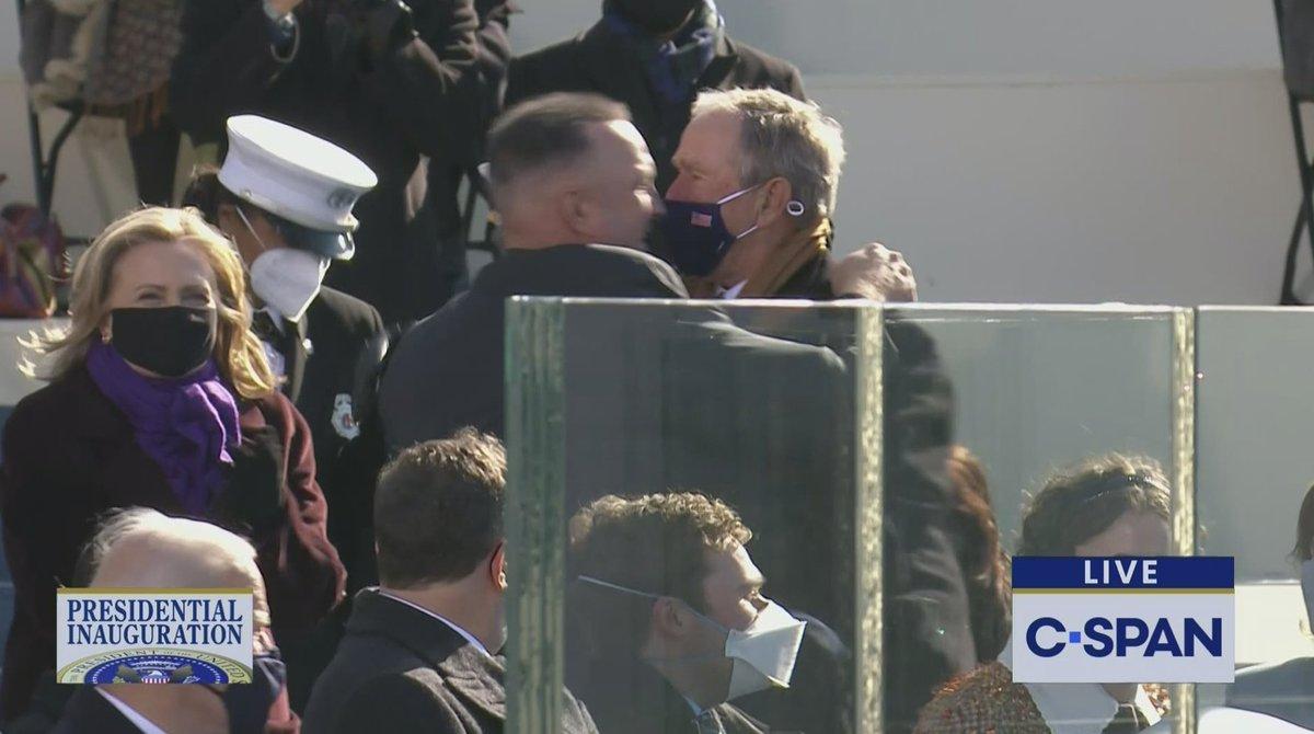 Garth Brooks and George W. Bush