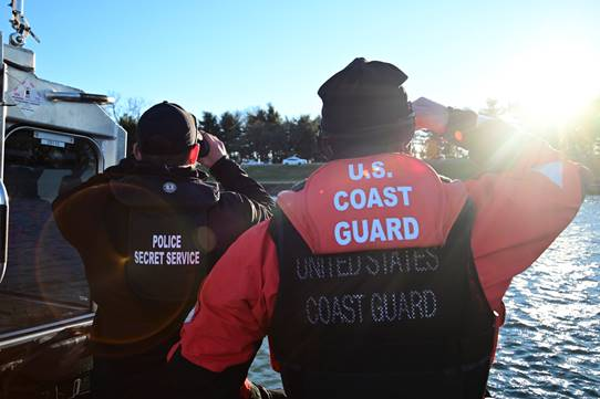 The Secret Service is proud to work beside our partners at @USCG to ensure the safety of #Inauguration2021