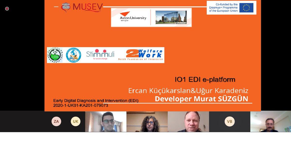 EDDI (Early Digital Diagnosis and Intervention, Erken Dijital Tanı ve Müdahale) isimli proje açılış toplantısı çevrimiçi olarak gerçekleştirildi. #ESL #drop-out #EDDI @AstonUniversity  @MucurV  @StimmuliFChange  @21st_CEA  @DFOIW2W