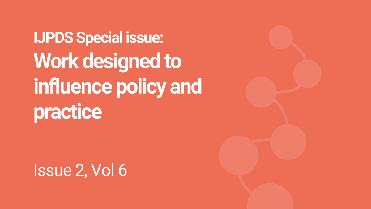IJPDS Releases its 2021 Special Issue topic. Call now OPEN To start the New Year off with real impact, we are dedicating our 2021 Special Issue to: 'Work designed to influence policy and practice'  For more info visit  #datalinkage #admindata #policy