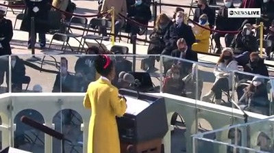 """""""We will raise this wounded world into a wondrous one…There is always light, if only we're brave enough to see it—if only we're brave enough to be it.""""  Amanda Gorman makes history as youngest poet in recent history to read at apresidential inauguration:"""