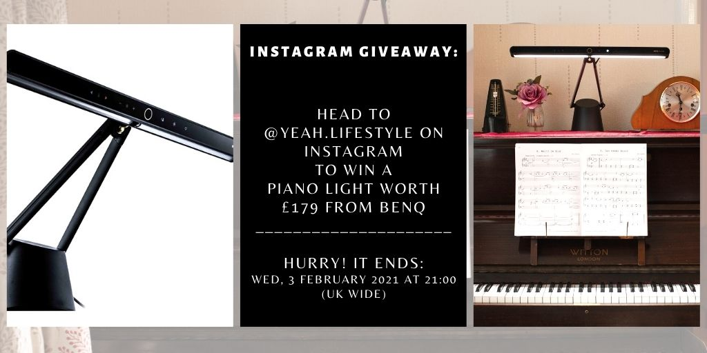 #Giveaway: Visit our Instagram👉👈find out how you can #win @BenQ_UK Piano Light worth £179 (E: 03/02-UK) [ad-gifted]  #competition #ukgiveaway #giveawayuk #giveawayalert #WinItWednesday #FridayFeeling #benqlighting #uk #influencers #Instagram #piano