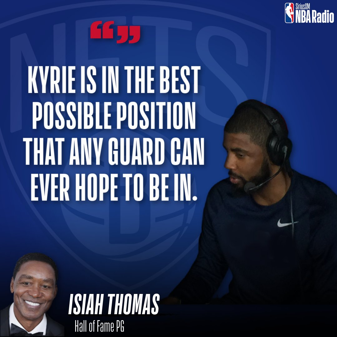 How will Kyrie Irving fit with James Harden & Kevin Durant tonight?  @Hoophall PG @IsiahThomas tells @TermineRadio & @Jumpshot8 this is a perfect spot for Kyrie.  Hear the full interview with Isiah here: